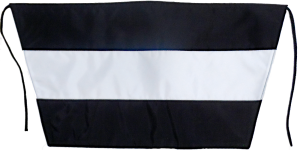 trainer flag w black rope